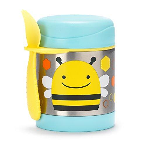 Skip Hop Zoo Bee - Termo para alimentos y tenedor-cuchara